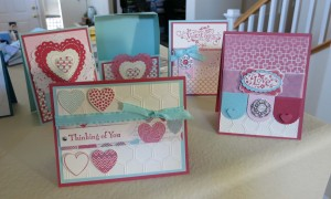 Hearts a Flutter Box and cards1