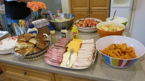 Lunch spread